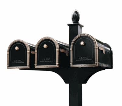 Triple Decorative Post System (Mailboxes Purchased Separately)