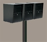 Triple Locking Curbside Wood Post Adapters (Mailboxes purchased separately - Post not Included)