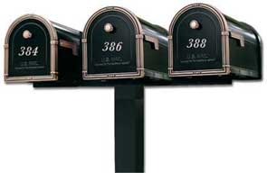 Triple Standard In-Ground Post System (Mailboxes Purchased Separately)