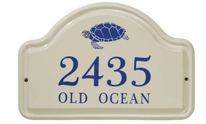 Whitehall Turtle Ceramic Arch - Standard Two Line Wall Plaque