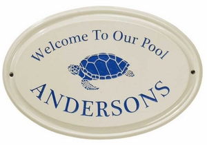 Whitehall Turtle Ceramic Oval - One Line - Standard Wall Plaque