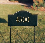 Whitehall Arch Marker Standard Two-sided One Line Lawn Address Sign