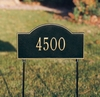 Arch Marker Standard Two-sided One Line Lawn Address Sign