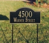 Whitehall Arch Marker Standard Two-sided Two Line Lawn Address Sign