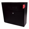 Ultimate High Security Locking Metro Wall Mount Mailbox in Black
