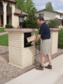 Ultimate High Security Parcel Locking Mailbox for Residential Estate - gray