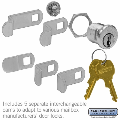 Salsbury 1190 4B+ Horizontal And Vertical Style Mailboxes Universal Lock (2) Keys