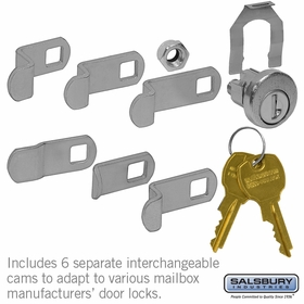 Salsbury 1195 Universal Lock For Most CBU/Ndcbu Pedestal Style Mailboxes With (3) Keys