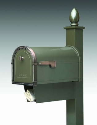 Locking Curbside Newspaper Receptacle for Architectural Mailboxes