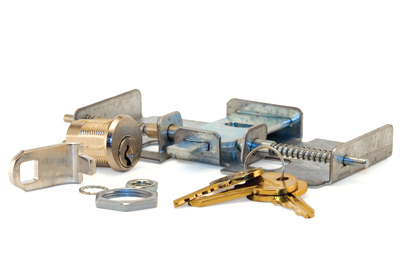 Vault Lock Kit - 3 Point Latch Lock Kit Includes Cylinder, Cam, Retaining Ring, Lock Nut, and Washer