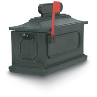Verde Green 1812 Architectural Series Plastic Mailbox