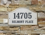 "Verona Serpentine (15"" x 9-1/2"") Crushed Stone Address Plaque"
