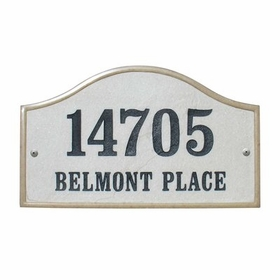 "Verona Serpentine (15"" x 9-1/2"") Crushed Stone Address Plaque - Slate"