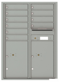 Versatile Front Loading Commercial Mailbox with 10 Tenant Doors and 2 Parcel Lockers - Double Column