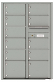 Versatile Front Loading Commercial Mailbox with 11 Tenant Compartments and Outgoing Mail Slot - Double Column