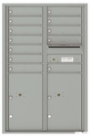 4C Front Loading Horizontal Mailboxes 11 to 12 Doors