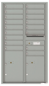 4C Front Loading Horizontal Mailboxes 17 to 18 Doors