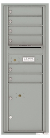 Versatile Front Loading Commercial Mailbox with 6 Tenant Compartments and 1 Parcel Locker - Single Column