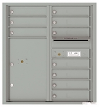 9 Door High Front Loading 4C Mailboxes (33-3/4 in. High)