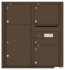 9 Door High Rear Loading 4C Mailboxes