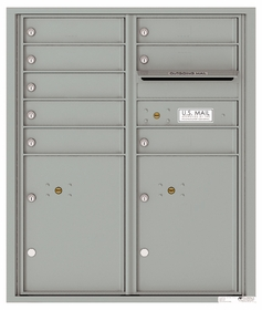 4C Front Loading Horizontal Mailboxes 7 to 8 Doors