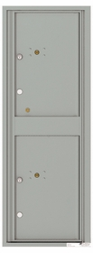 Versatile Front Loading Fully Recessed Single Column Commercial Mailbox with 2 Medium Size Parcel Lockers