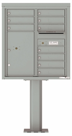 9 Doors High 4C Pedestal Mailboxes