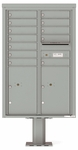 4C Pedestal Mailboxes with Parcel Lockers 11 to 12 Doors