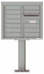7 Doors High 4C Pedestal Mailboxes