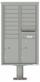 4C Pedestal Mailboxes with Parcel Lockers 13 to 14 Doors