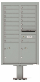 14 Doors High 4C Pedestal Mailboxes