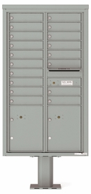 15 Doors High 4C Pedestal Mailboxes