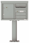 4C Pedestal Mailboxes with Parcel Lockers 3 to 4 Doors