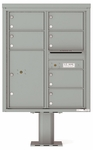 10 Doors High 4C Pedestal Mailboxes