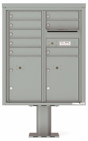 4C Pedestal Mailboxes with Parcel Lockers 7 to 8 Doors