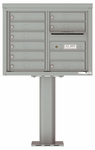 6 Doors High 4C Pedestal Mailboxes