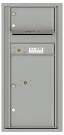 Versatile Front Loading Single Column Commercial Mailbox with 1 Tenant Compartment and 1 Parcel Locker