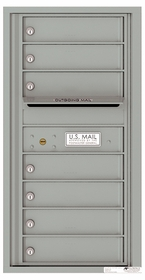 Versatile Front Loading Single Column Commercial Mailbox with 7 Tenant Compartments and Outgoing Mail Slot