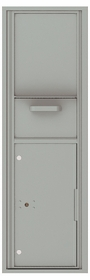 Versatile Front Loading Single Column Mailbox Collection Drop Box with Pull Down Hopper - 4C15S-HOP