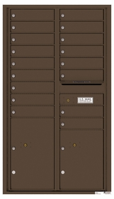 4C Rear Loading Horizontal Mailboxes 17 to 18 Doors
