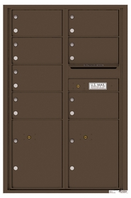 14 Doors High 4C Mailboxes Rear Loading