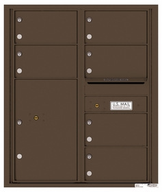 10 Doors High 4C Mailboxes Rear Loading