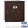 Salsbury 3503ZRP Vertical Mailbox - 3 Doors - Bronze - Recessed Mounted - Private Access