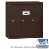 Salsbury 3503ZSP Vertical Mailbox - 3 Doors - Bronze - Surface Mounted - Private Access