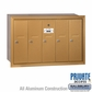 Salsbury 3505BRP Vertical Mailbox - 5 Doors - Brass - Recessed Mounted - Private Access