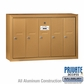 Salsbury 3505BSP Vertical Mailbox - 5 Doors - Brass - Surface Mounted - Private Access
