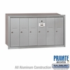 Salsbury 3506ARP Vertical Mailbox - 6 Doors - Aluminum - Recessed Mounted - Private Access