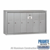 Salsbury 3506ASP Vertical Mailbox - 6 Doors - Aluminum - Surface Mounted - Private Access