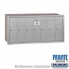 Salsbury 3507ARP Vertical Mailbox - 7 Doors - Aluminum - Recessed Mounted - Private Access