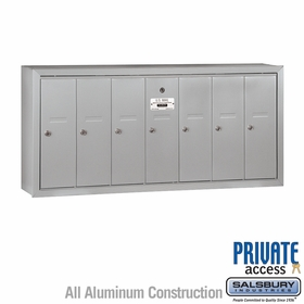 7 Door Vertical Mailboxes - Surface Mounted - Private Access